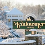 Meadowmere Winter Entrance