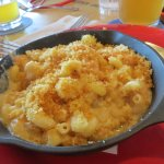 Macaroni au fromage et crevettes