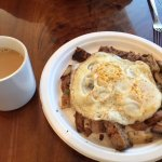 Beef hash with eggs
