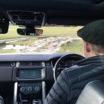 Taking the RR round the rock crawl part of the course -