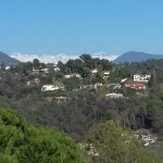 St Paul de Vence_View of Snow on the Mountains