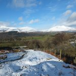 Skiddaw and Blencathra from the ascent of Walla Crag...