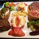 Surf and turf platter for two