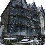 Painting the front of the house in the snow!