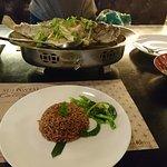 Steamed fish (Hongkong style) and brown rice