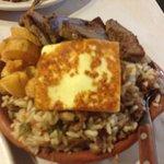 Maria Bonita - carne seca, baião de dois e macaxeira frita