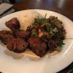 kuzu sis lamb pieces with rice - tough meat