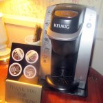 Keurig Coffee Makker, Hotel La Rose, Santa Rosa, CA