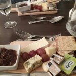 Cheese board in the hotel restaurant