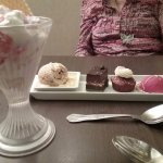 Eton mess & asiette of mini desserts in the hotel restaurant