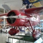 loaded with aircraft and multiple types of exhibits inside