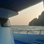Onboard the adventure club's dive boat