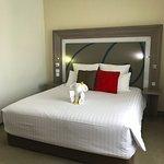Junior suite bedroom king bed