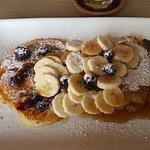 Banana and Blueberry Pancakes - amazing!
