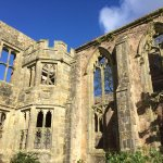Sadly devastated by fire in 1947, most of the house is now an atmospheric ruin