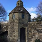 A handsome dovecote in the walled garden