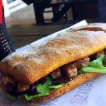 PREGO STEAK Tender Beef Steak grilled in your chosen sauce on a crispy Ciabatta Roll garnished.
