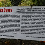 Information at the entrance to Borra Caves