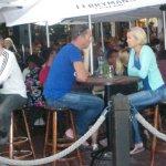 The bustling (in a nice way) Ferryman's Tavern.