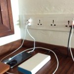 4 dual UK/European + 4 USB - no trouble charging your gadgets!