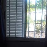 This was our bedroom window. The shutter didn't open. Bedroom was constantly dark.