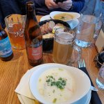 fish soup accompanied with local beer