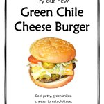 Sauteed green chilis on a burger? We think so! Don't worry, they're not spicy. Just delicious!