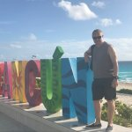 Fantastic Cancun sign at the beach
