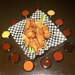 Wings with 13 different sauces to choose from!
