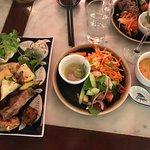 Spring rolls & asian salad