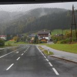 View from the bus coming from Salzburg