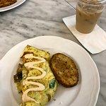 Greek omelet with yummy seasoned potato