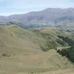 View back towards Arrowtown and Lake Hayes