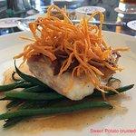 Sweet Potatoes over grouper