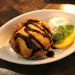 Deep Fried Ice Cream. Ice Cream coated with light batter and deep fried