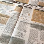 The newspaper (the menu)