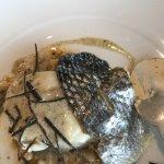 filet de bar risotto d'épeautre truffe