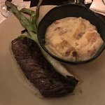 Hanger Steak, mashed potatoes
