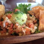 Island Ceviche - marlin with in-house made tortilla chips
