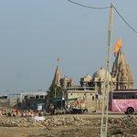 The Rukshmani Temple feom a distance
