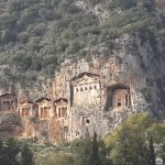 Lycian Rock Tombs-view from the riverboat