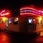 Jim Dany lit up at night