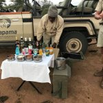 Evening drinks and snack stop off during our game drive