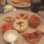 Assiette de dégustation de saumon