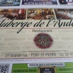 Foto de Auberge de l'Andelle