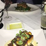 Delicious Pan seared Halibut, and Duck
