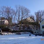 Links Haus Bruyn - Mitte Haus Fontane - Rechts Fischerhaus