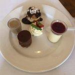 Delicious lunch trio dessert.