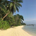 Strand vor den Chalets