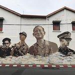 graffiti of Thailand Late King